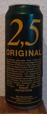 2,5 Original Radler Naturtrüb