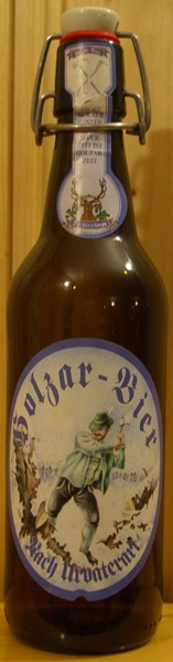 Der Hirschbräu Holzar-Bier