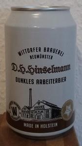 Wittorfer D.H.Hinselmann Dunkles Arbeiterbier